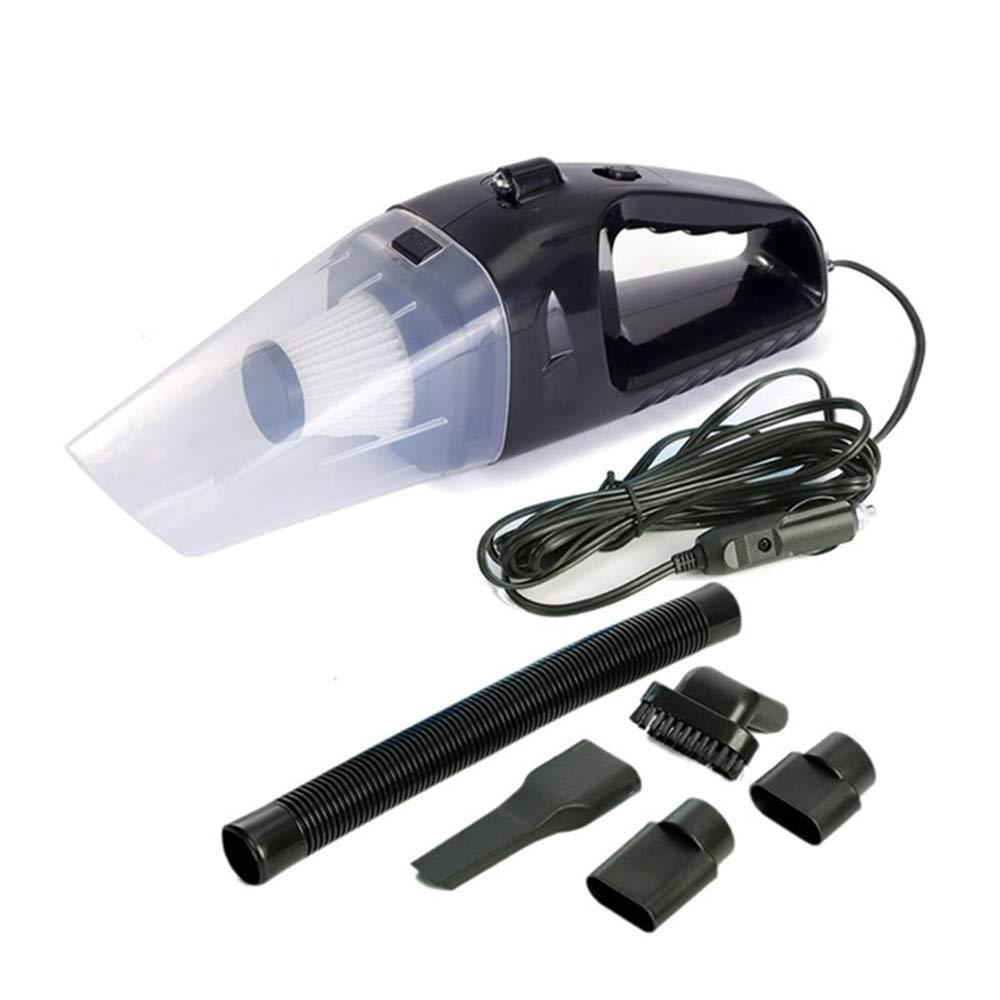 HEHE Mini Aspirador Húmedos Y Secos Gran Succión Filtro 60W Portátil Aspirador del Coche 12V Aspiradora Fuerte para La Máquina De Coches,Negro: Amazon.es: Hogar