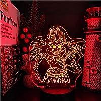GMYXSW 男の子ディー&アンプのための3D睡眠夜ライト&AMPテリューアニメランプ3D LEDナイトライトデスクランプランパラ寝室の装飾誕生日/クリスマスギフト-手順で16色