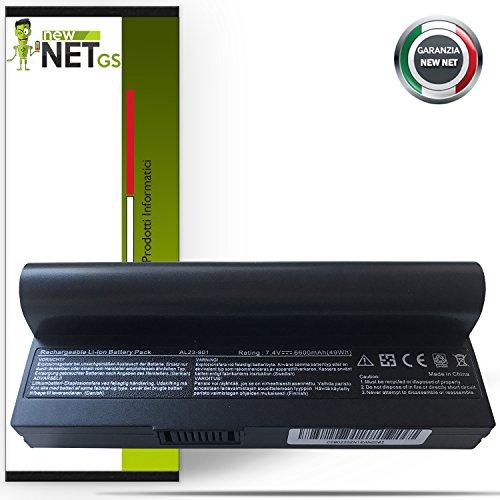 Batteria per Asus 870AAQ159571   AL22901 da 6600mAh 7.4V compatibile con Asus Eee PC 1000, 1000H, 1000HA, 1000HD, 1000HE, 1000HG