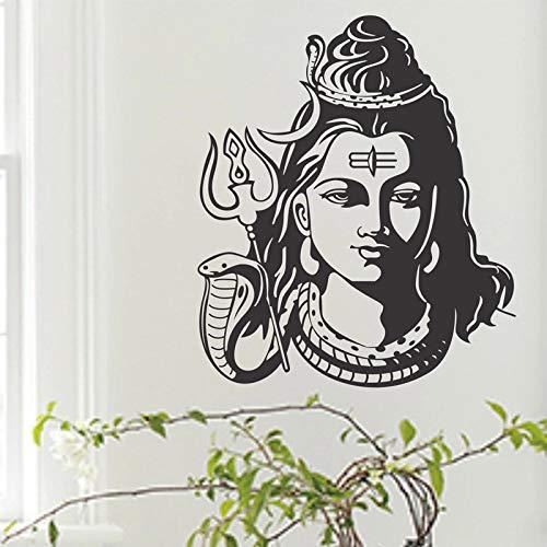 De la India y el hinduismo Dios religioso Shiva pegatinas de vinilo decoración del hogar pegatinas de pared decoración del hogar papel tapiz dormitorio