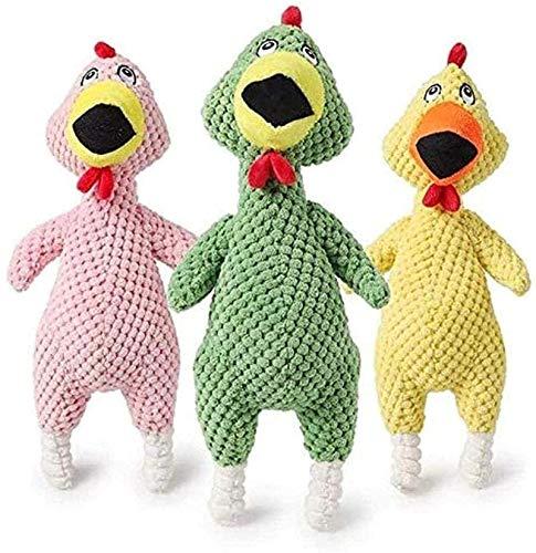 DINEGG Plüschspielzeug 3 stücke Neue Haustier Plüsch Vokal Spielzeug Zinsen Interesse Vocal Bitesistant Hühnchen Threecolor Dog Toys Pet Supplies YMMSTORY