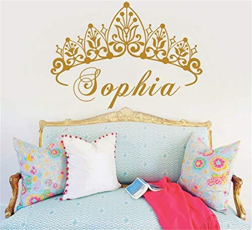 Wandaufkleber Kinderzimmer wandaufkleber 3d Baby-Kronkorken-Kunst-Prinzessin Personalized Nursery Custom für Wohnzimmer-Kinderzimmer scherzt Schlafzimmer
