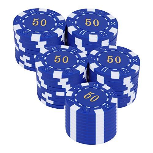 NUOBESTY Fichas de Poker de Plástico para Jugar a Los Niños Contadores de Aprendizaje de Plástico Discos de Bingo Chip Conteo de Discos Marcadores
