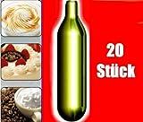 NEMT 20s 20 Stück N2O Sahnekapseln, passend für alle handelsüblichen Sahnebereiter von Liss, Mosa, iSi, Kayser, Mastrad, Cream Whipper Chargers