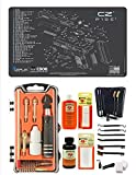 EDOG USA Outlaw 28 Pc Pistol Cleaning Kit - Compatible for CZ P-10C - Schematic (Exploded View) Mat, Calibers 9MM to .45 & Tac Pak Pistol Cleaning Essentials Kit