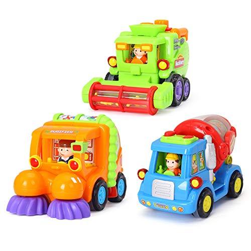 Lihgfw Cartoon Car Kinder Trägheit technikfahrzeug Fall Widerstand Junge Spielzeug Auto Mixer LKW Harvester Modell Auto Trägheit Widerstand Fall (Color : Multi-Colored)