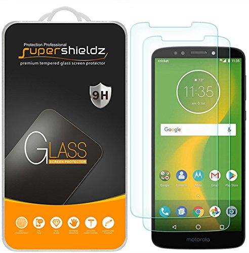 (2 Pack) Supershieldz for Motorola (Moto E5 Supra) Tempered Glass Screen Protector Anti Scratch, Bubble Free