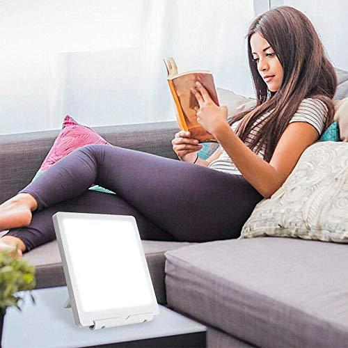 LED Sonnenlicht Lampe, SAD Tageslichtlampe, 6000/10000LUX Lichttherapielampe, Tablet Lampe für den Haus Büro Winter Schreibtisch