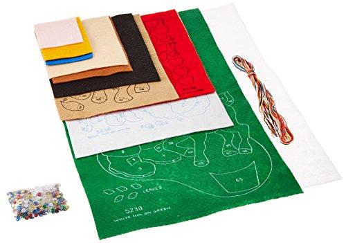 Tobin Santa & Deer Stocking Felt Applique Kit-18 Long, 18