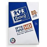 Oxford Papel para impresora DIN A4, 80 g/m², 500 hojas, color blanco, para casa y oficina