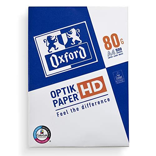 Oxford Druckerpapier DIN A4, 80 g, 500 Blatt, Kopierpapier für Zuhause und Büro