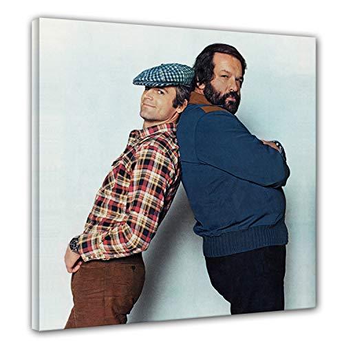 Terence Hill und Bud Spencer - Zwei wie Pech und Schwefel - Leinwand (80 x 80cm)