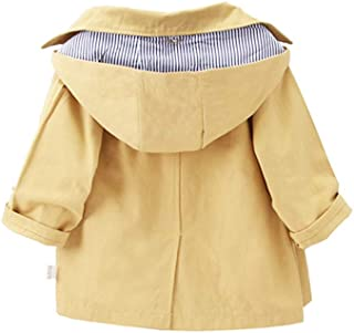 Xifamniy Infant Baby Long Sleeve Jacket Solid Color Cotton Fashion Single-Breasted Coat