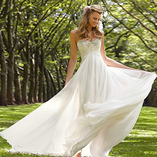 Kleid Brautkleid Brautkleid Trailing Bra Brautkleid Rock 1 2 Slim Thin Minimalist Braut Brautkleid Wedding/White/Xxxl, L-F, Weiß, XS