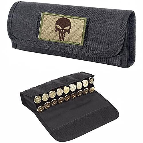 ACEXIER Military 18 Round Tactical Molle Cartucho Titular de la Carcasa Bolsa de munición Bolsa Bolsa de Cintura Militar Bolsa de Bala de Pistola de Calibre 12/20(Incluye un Parche de Velcro)