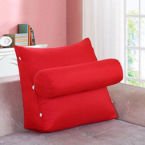 MMM- Chevet Triangulaire Coussin Sangle Garde-Cou Oreiller Canapé Bureau Dossier Pad Lit Oreillers ( Couleur : Rouge , taille : 45 )