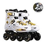 XJBHD Patines en Línea para Adultos de una Hilera Zapatos Profesionales de Patinaje de Velocidad en Línea Fibra Carbono para Deportes al Aire Libre Fitness para Hombres Patines Ruedasplatinum-37