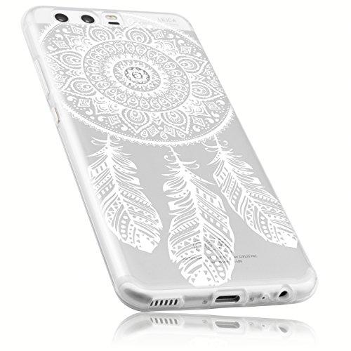 mumbi Hülle kompatibel mit Huawei P10 Handy Case Handyhülle dünn mit Motiv Traumfänger, transparent