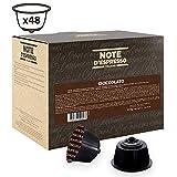 Note d'Espresso - Lot de 48 capsules de chocolat compatibles avec machine Dolce...