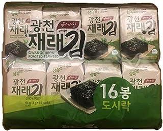 Sahmyook Roasted Seaweed Snack, Gwangcheon Sesame Oil, 0.14 Ounce (Pack of 16)
