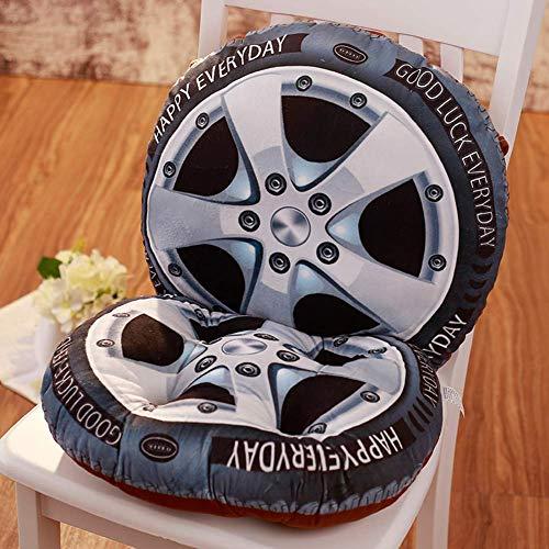 3D Fruit Sitzkissen mit Rückenlehne, Soft Plush Throw Pillow rutschfeste Stuhlpolster mit Krawatten, ideal für Patio Garden Home Decor Sitzpolster, 40x40 cm, Reifen