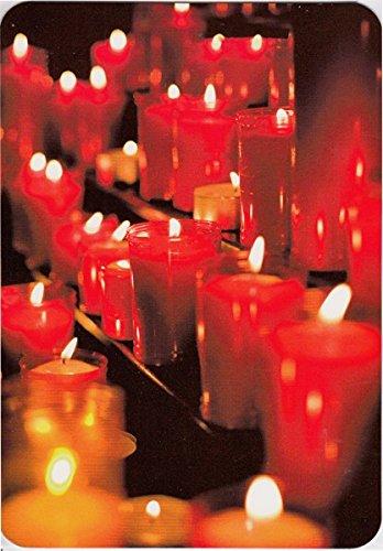 Weihnachtskarte Adventskarte blanko viele rote Kerzen