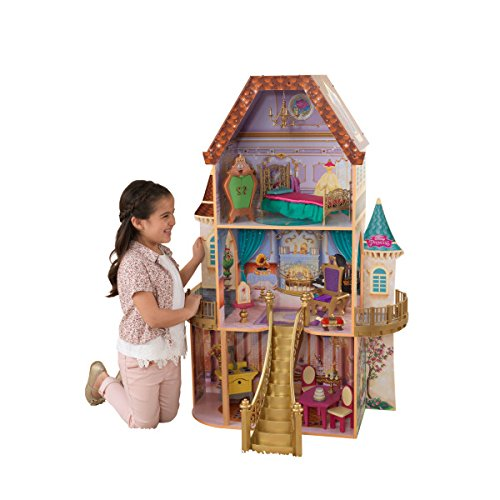 KidKraft Disney Princess Belle Enchanted Dollhouse with 13 Accessories $62.99 (Was $150)