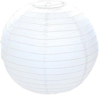Huahan Haituo Klosz lampy okrągły biały papier Classic Bamboo styl żeberkowy klosz dekoracja na imprezę do ogrodu i na wes...