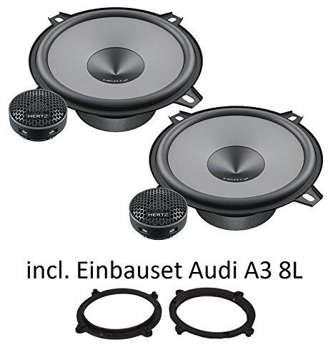 Altavoces para Audi A38L deHertz Uno K130, 13cm, sistema de componentes de 2vías,incluye juego de montaje