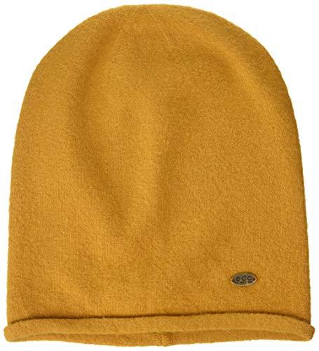 edc by Esprit Accessoires Damen 109Ca1P003 Strickmütze, Gelb (Amber Yellow 700), One Size (Herstellergröße: 1SIZE)