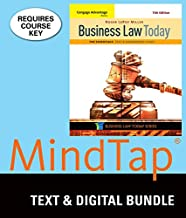 Bundle: Cengage Advantage Books: Business Law Today, The Essentials: Text and Summarized Cases, Loose-Leaf Version, 11th + MindTap Business Law, 1 term (6 months) Printed Access Card
