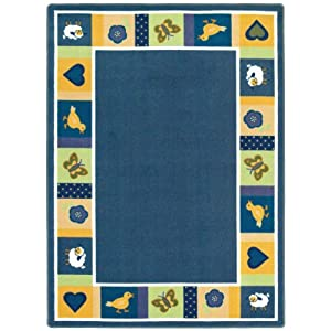 Joy Carpets Just for Kids Baby Blues Bold Kids Rectangle Rug