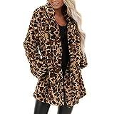 ZYSDHZ Leopardenmantel Jacke Weibliche Leopardenjacke Tasche Warmen Winter Großen Langen Abschnitt
