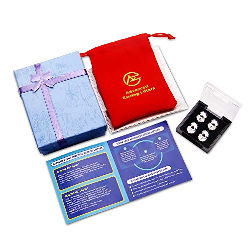 Advanced Premium Quality Earring Lifters | GIFT BOX SET | Back Lobe Ear Support,
