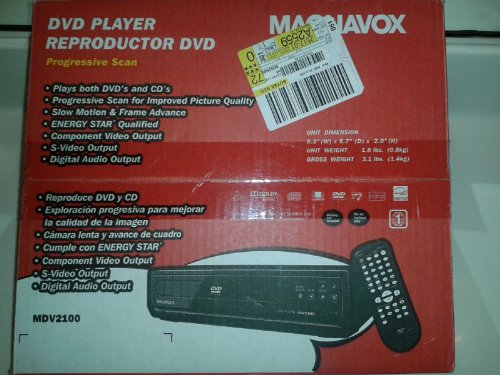 Magnavox Mdv2100/f7 Dvd Player W/progessive Scan Zoom Slow Motion Search