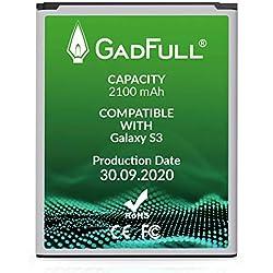 GadFull Batteria compatibile con Samsung Galaxy S3 | 2020 Data di produzione | Corrisponde al EB-L1G6LLU originale | Compatibile con Galaxy S3 i9300 | Galaxy S3 LTE i9305