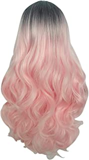 Honghii Natural Looking Wavy Auburn Wigs Long Synthetic Hair Wig for Women Wigs Long Curly Hair Synthetic Wig