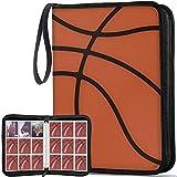 648 Pockets Basketball Binder Sleeves, Carrying Case with Basketball Card Sleeves Card Holder Album Protectors Set for Football Baseball and Sports Card