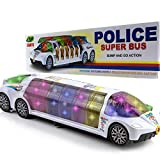 Toytykes Police Bus Toy, Vehicle Set with Realistic Police Sound and Led Lighting - Police Transporter Toy for Boys and Girls with Interactive Bump - Educational Toys for Kids and Toddlers.