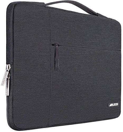 MOSISO Funda Blanda Compatible con MacBook Pro 16 Pulgadas/15 15.4 15.6 Pulgadas DELL Lenovo HP ASUS Acer Samsung Sony Chromebook, Poliéster Maletín Protectora Multifuncional Bolso, Gris Espacial