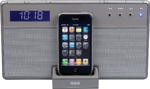 RCA RC65i Clock Radio with iPhone iPod Cradle (Discontinued by Manufacturer)