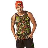 Zumba Fitness Club Camo de Baloncesto Jersey Hombre Hombres Tops, Todo el año, Hombre, Color Olive You, tamaño Large