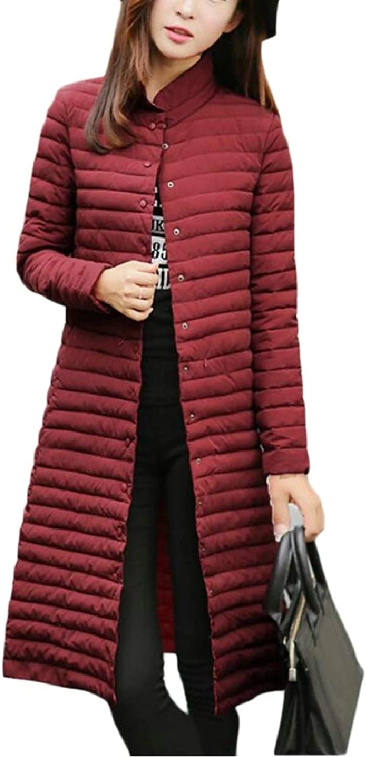 Womens Winter Warm Overcoat Longline Packable Slim Fit Parka Padded Coat