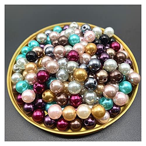 SLXZ621 8mm 50 stks imitatie parels ronde kralen diy armband oorbellen charms ketting kralen voor sieraden maken Jqbb (Color : 15)