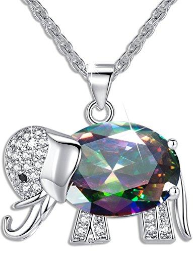 FLORAY donna o ragazza ciondolo collana elefante di cristallo di alta qualità migliore regalo per donna