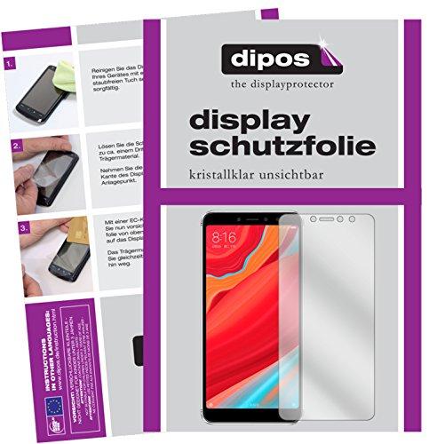 dipos I 2X Schutzfolie klar kompatibel mit Xiaomi Redmi S2 Folie Bildschirmschutzfolie