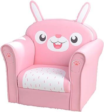 SINOPED Children's Single Sofa Cute Series Rabbit Model American Standard Pu Dark Pink