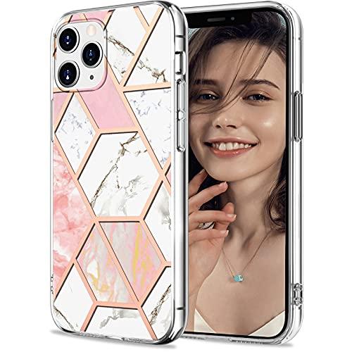 Funda para iPhone 13 Pro Max, funda para iPhone 13 Pro Max, funda transparente con diseño de mármol, silicona, flexible, brillante, resistente a los golpes (1)