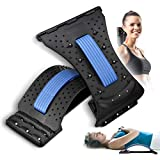 Back Stretcher Neck Stretcher (2 in 1), CAMTOA Stretch Recovery Lumbar Back Pain Relief Neck Pain Relief, Spine Deck Back Support Device Multi-Level Back Massager for Herniated Disc, Sciatica
