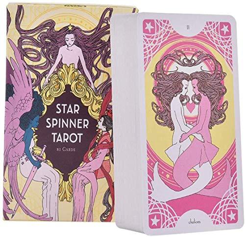 Heiße Neue Tarot-Karten, Oracle Karten-Sets Anfänger Schicksal Divination Card, Fun-Spiel für Familie Party und Unterhaltung (Deutsche Version), okkulte Tarot,Star Spinner Tarot